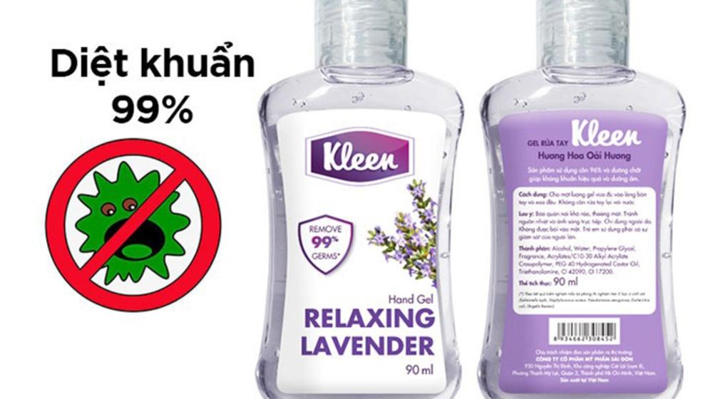Review Gel rửa tay khô Kleen tốt và có mùa hương dễ chịu mùa covid 19