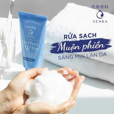 Sữa rửa mặt Senka Perfect Whip xanh dương - Sữa rửa mặt tạo bọt