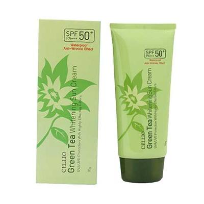 Kem chống nắng Cellio Green Tea Whitening Sun Cream