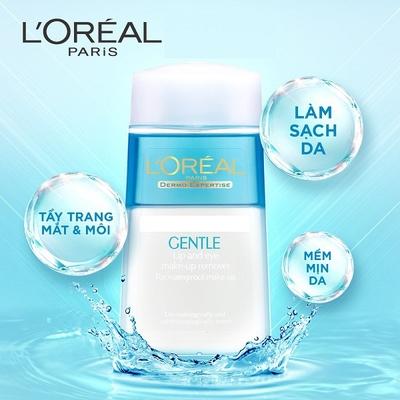 Nước Tẩy Trang Mắt Môi L\'ORÉAL Gentle Lip And Eye Make Up Remover