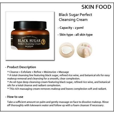 Kem Tẩy Trang Black Sugar Perfect Cleansing Cream Skinfood