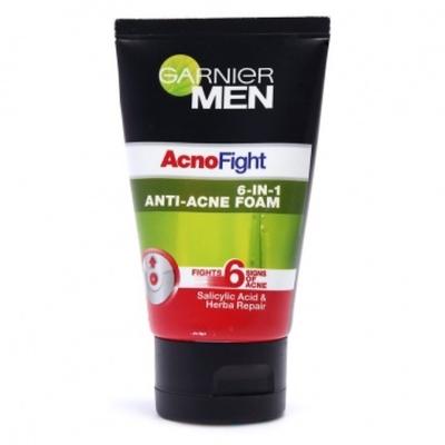 Sữa rửa mặt Garnier Men Acno Fight 6 In 1 Anti Acne Foam Anti Pimple Facewash
