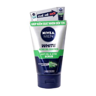 Sữa rửa mặt Nivea For Men White Active Oil ControlScrub