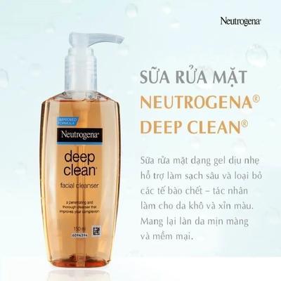 Sữa rửa mặt Neutrogena Deep Clean Facial Cleanser