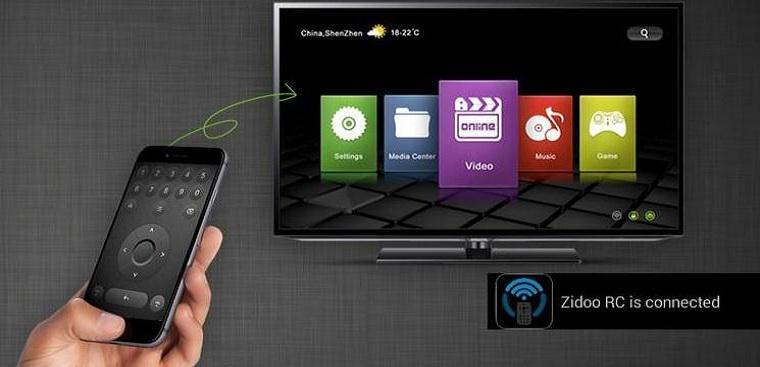 Điều khiển Tivi box bằng điện thoại