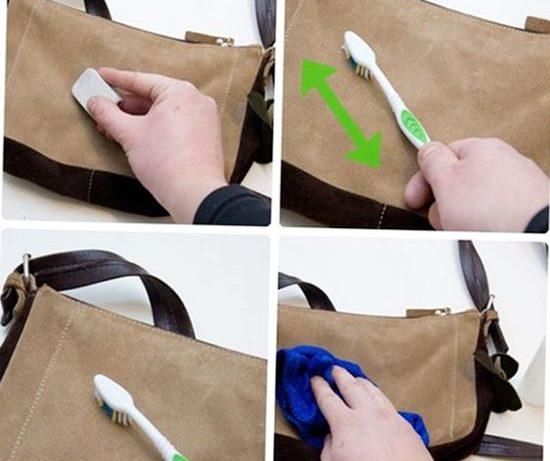 Làm sạch túi giả da ngay khi vừa bị bẩn
