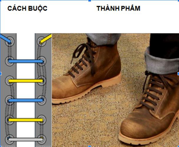 Cách thắt dây giày quân đội