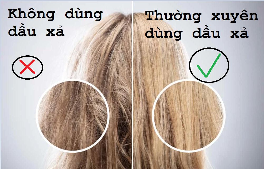Sử dụng dầu xả cho tóc