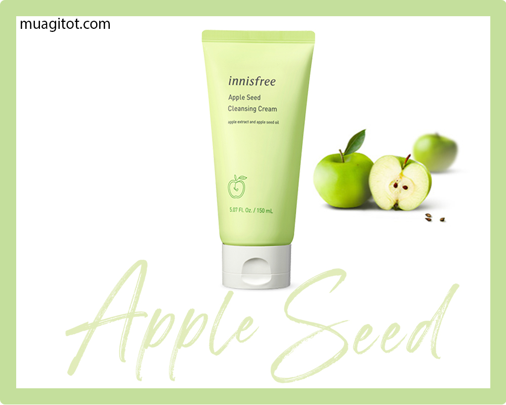 sữa rửa mặt innisfree apple seed cleansing cream